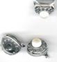 Перстень (19 размер) и серьги с жемчугом