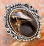 Комплект Черно-медный Оникс кольцо, кулон, серьги