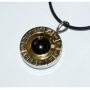 Кулон Зодиакальный круг с шунгитом
