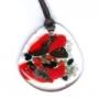 Муранское стекло, подвеска миллефиори красная