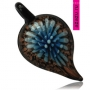 Кулон - муранское стекло, черный, синий, голубой цвета