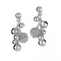Серьги из серебра с бриллиантами hot diamonds, арт. de207