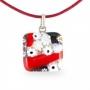 Кулон из муранского стекла Маленькие радости, арт.06112203_red