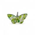 Подвеска-бабочка 4х2 см из муранского стекла, арт. 94b