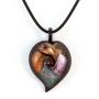 Подвеска сердце с узором декроико и муранское стекло, арт. CV03