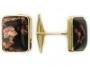 Мужские запонки из золота с муранским стеклом