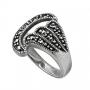 Кольцо с марказитами, серебро 925 проба, арт. K299