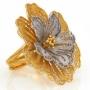 Кольцо  jour de fleur (Аур де Флёр), серебро 925 проба, арт. сс1400_gold