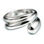 Серебряное кольцо с бриллиантом из коллекции GHOST. GHR26