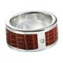 Серебряное кольцо с бриллиантом Hot diamonds. MR025