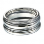 Серебряное кольцо с бриллиантом Hot diamonds. MR016