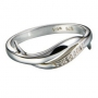 Серебряное кольцо с бриллиантами Hot diamonds. DR058