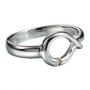 Серебряное кольцо с бриллиантом Hot diamonds. DR065
