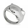 Кольцо Дельфин из серебра 925 пробы, 199