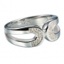 Серебряное кольцо с бриллиантом Hot diamonds. DR056 O(17,5)