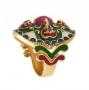 Кольцо Сердце Востока (Green) из серебра 925 пробы, Х5К2333/3500_bl
