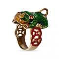 Кольцо Небесный Лев из серебра 925 пробы, Х5К2200/3300