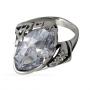 Кольцо Миндаль из серебра 925 пробы, 398_wh