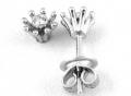 Серьги пусеты с бриллиантами, арт: TEA 01111