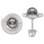 Серьги с жемчугом и бриллиантами, арт: ER24119PRR17