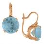 Серьги с голубым топазом, арт: ER341BT