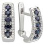 Серьги с сапфирами и бриллиантами, арт: ER24256SR17