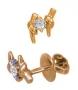Пусеты с бриллиантами из розового золота 585 пробы, арт: PS04161