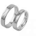 Обручальные кольца с бриллиантами серии Twin Set из платины 950 пробы, 2 штуки, арт: ТС Pt 3327