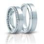 Обручальные кольца с бриллиантами серии Twin Set из платины 950 пробы, 2 штуки, арт: ТС Pt 3266