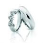 Обручальные кольца с бриллиантами серии Twin Set из платины 950 пробы, 2 штуки, арт: ТС Pt 1683