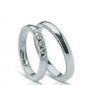 Обручальные кольца с бриллиантами серии Twin Set из платины 950 пробы, 2 штуки, арт: ТС Pt 1672