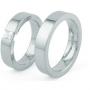 Обручальные кольца с бриллиантами серии Twin Set из платины 950 пробы, 2 штуки, арт: ТС Pt des 98
