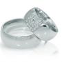 Обручальные кольца с бриллиантами серии Twin Set из платины 950 пробы, 2 штуки, арт: ТС Pt des 21