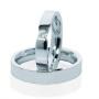 Обручальные кольца с бриллиантами серии Twin Set из платины 950 пробы, 2 штуки, арт: ТС Pt 4000