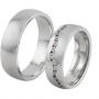 Обручальные кольца с бриллиантами серии Twin Set из платины 950 пробы, 2 штуки, арт: ТС Pt 3416