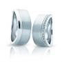Обручальные кольца с бриллиантами серии Twin Set из платины 950 пробы, 2 штуки, арт: ТС Pt 3354