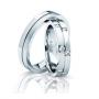 Обручальные кольца с бриллиантами серии Twin Set из платины 950 пробы, 2 штуки, арт: ТС Pt 3331
