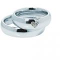 Обручальные кольца с бриллиантами серии Twin Set из платины 950 пробы, 2 штуки, арт: ТС Pt 0371