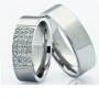 Обручальные кольца с бриллиантами серии Twin Set из палладия 850 пробы, 2 штуки, арт: ТС Pd 3379
