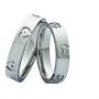 Обручальные кольца с бриллиантами серии Twin Set из палладия 850 пробы, 2 штуки, арт: ТС Pd 3343