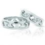 Обручальные кольца с бриллиантами серии Twin Set из палладия 850 пробы, 2 штуки, арт: ТС Pd 3329