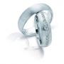 Обручальные кольца с бриллиантами серии Twin Set из палладия 850 пробы, 2 штуки, арт: ТС Pd 3303