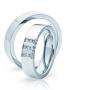 Обручальные кольца с бриллиантами серии Twin Set из палладия 850 пробы, 2 штуки, арт: ТС Pd 3243
