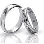Обручальные кольца с бриллиантами серии Twin Set из палладия 850 пробы, 2 штуки, арт: ТС Pd 3139