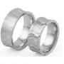 Обручальные кольца с бриллиантами серии Twin Set из палладия 850 пробы, 2 штуки, арт: ТС Pd 2223