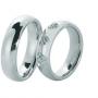 Обручальные кольца с бриллиантами серии Twin Set из палладия 850 пробы, 2 штуки, арт: ТС Pd 0370
