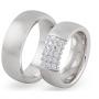 Обручальные кольца с бриллиантами серии Twin Set из палладия 850 пробы, 2 штуки, арт: ТС Pd 3519