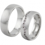 Обручальные кольца с бриллиантами серии Twin Set из палладия 850 пробы, 2 штуки, арт: ТС Pd 3416