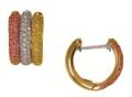 Серьги золотые с цирконами, арт: ERB2039S