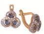 Серьги золотые с сапфирами и бриллиантами, арт: ER4145S